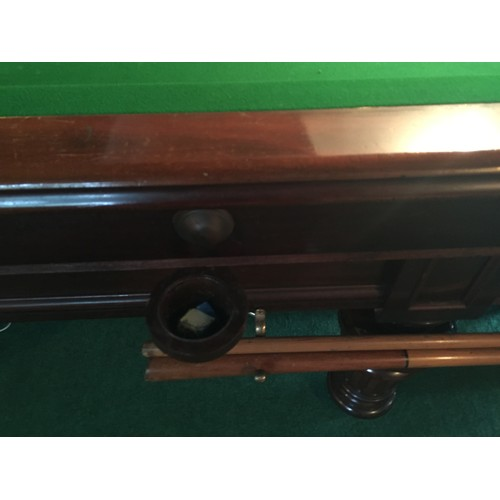 60 - Antique Irish Burroughes and Watts of Dublin Full Size Snooker Table Circa 1920 with Accompanying Sc...