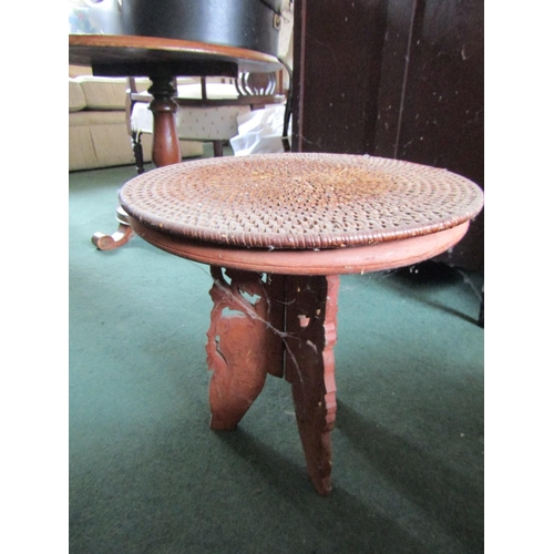 17 - Carved Hardwood Occasional Table Persian