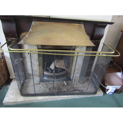 21 - Early Victorian Nursery Fire Guard with Brass Rail Decoration