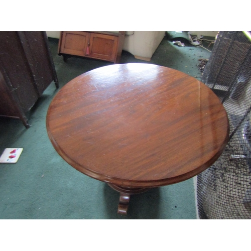 22 - William IV Figured Mahogany Occasional Table on Shaped Form Supports Approximately 24 Inches Wide