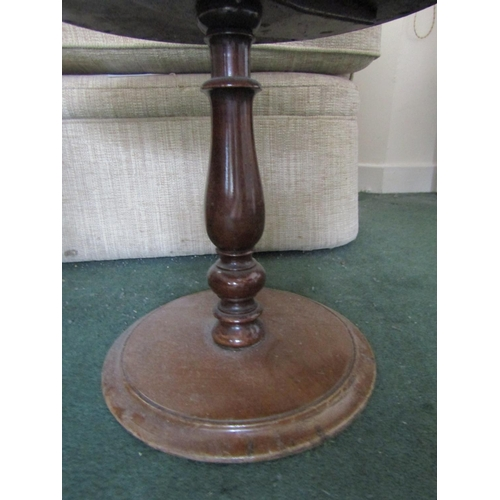 27 - Victorian Mahogany Pedestal Form Occasional Table Approximately 15 Inches Diameter