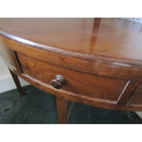 29 - Regency Mahogany Corner Stand with Single Drawer Above Tapering Supports Approximately 16 Inches Wid...