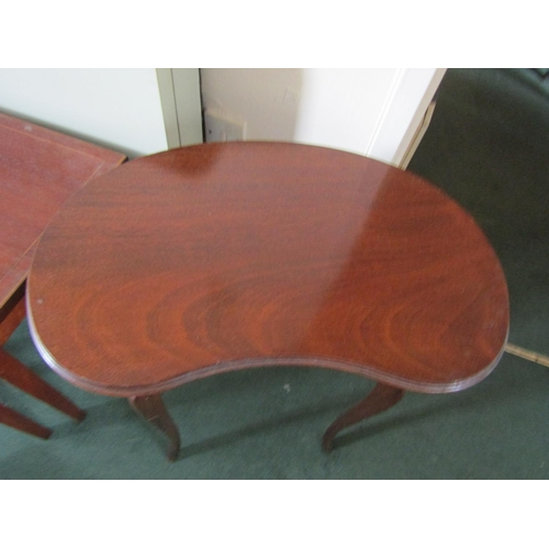 33 - Edwardian Kidney Shaped Form Mahogany Occasional Table Approximately 18 Inches Wide x 30 Inches High