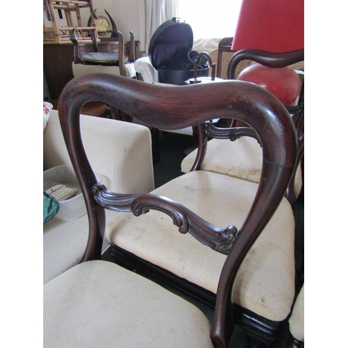 36 - William IV Set of Six Dining Room Chairs Well Carved Supports One Back Deficient Top Rail Present Up...