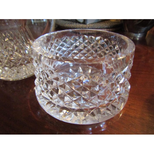 44 - Waterford Crystal Table Jug and Two Others Three Items in Lot Tallest Approximately 5 Inches High
