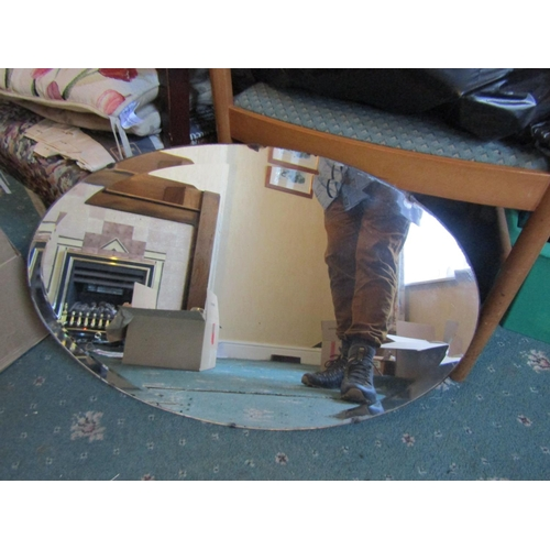 Edwardian Oval Form Wall Mirror Approximately 27 Inches Wide