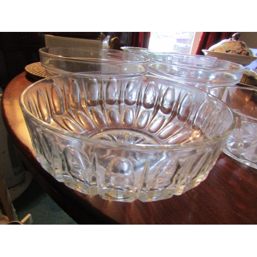 46 - Four Various Crystal Bowls Largest Approximately 9 Inches Diameter