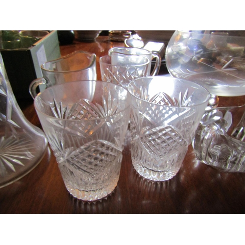 48 - Collection of Various Antique and Vintage Crystal Wear Quantity As Photographed