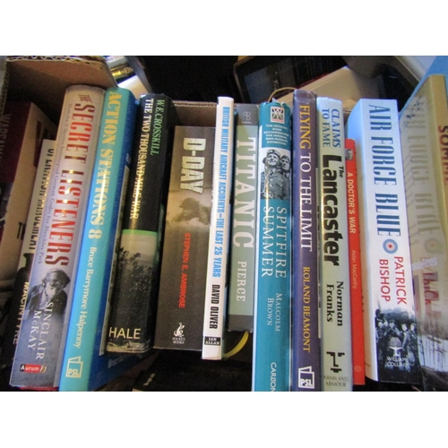 54 - Box of Various Volumes Including Antique and Military Interest Quantity As Photographed
