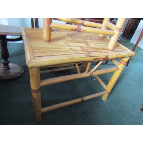 7 - Two Bamboo Form Occasional Tables Largest Approximately 23 Inches Wide