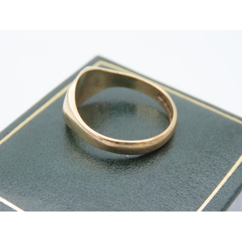 17 - 9 Carat Yellow Gold Signet Ring Size Q and a Half