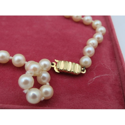 19 - Ladies Pearl Necklace with 9 Carat Gold Clasp