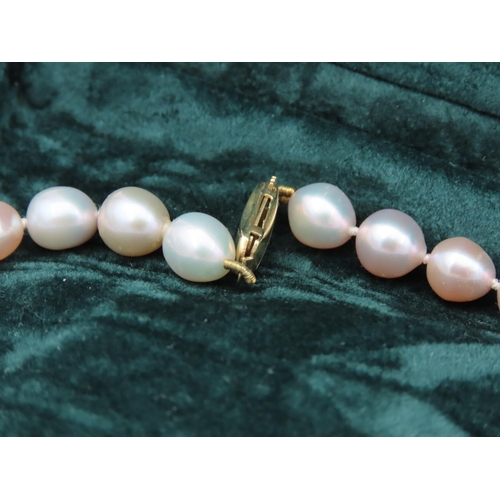 41 - Minatoku Ladies Pearl Necklace with 9 Carat Gold Clasp