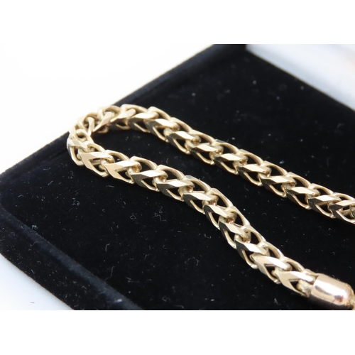 43 - 9 Carat Yellow Gold Ladies Necklace of Good Length and Weight Approximately 30 Inches Long Good Weig...