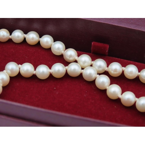 45 - Ladies Pearl Necklace with CZ and Costume Gemstones Attractively Detailed