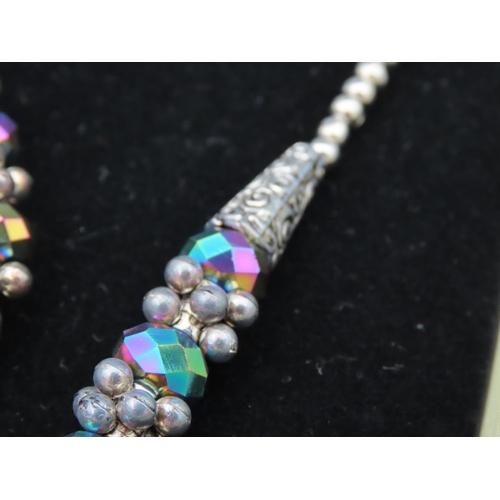 56 - Isabella Ladies Necklace and Bracelet Modernist Form