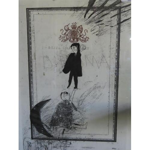 11 - Framed David Hockney Print 14 Inches x 19 Inches