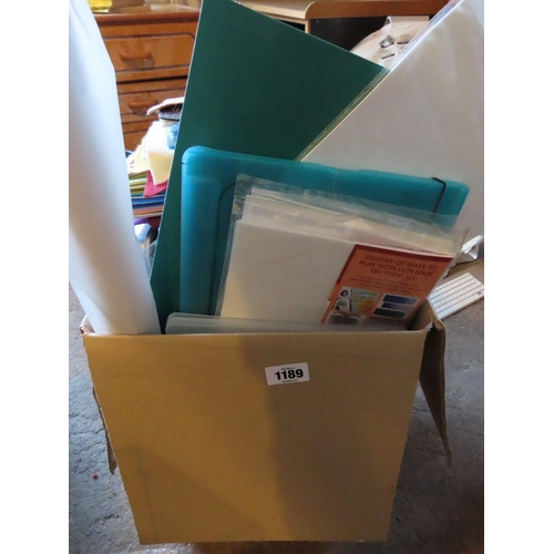 1189 - Large Box Containing Various Arts and Crafts Materials