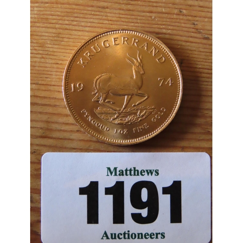 1191 - Another Gold Krugerrand South Africa 1975