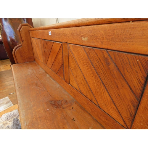 1192 - Antique Pine Church Pue 64 Inches Long x 39 Inches Tall