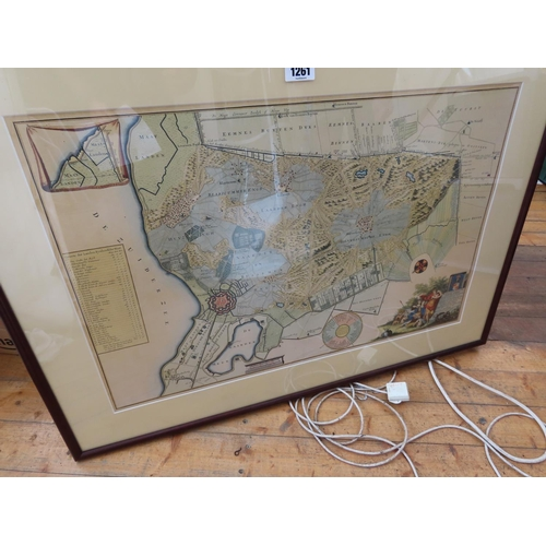 Frame Print of Map of Dutch Scene 40 Inches x 30 Inches