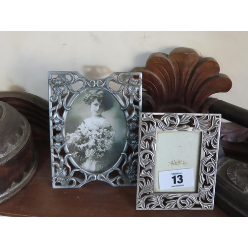 13 - Collection of Frames and Ornaments Including Antique Middleton Iron Number 7