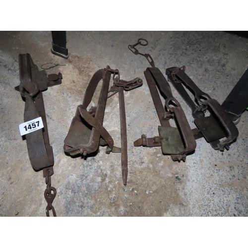 Four Vintage or Antique Animal Traps
