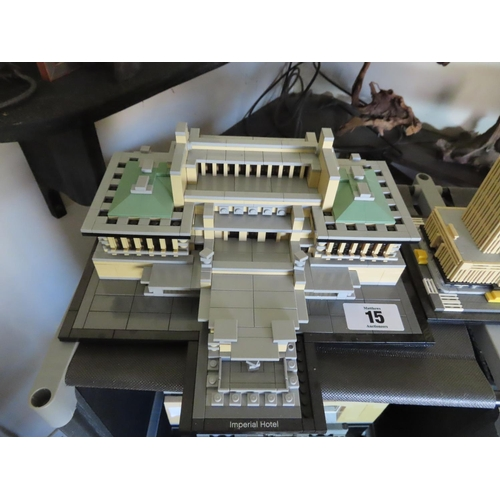 15 - Vintage Lego Imperial Hotel Set Approximately 10 Inches Wide