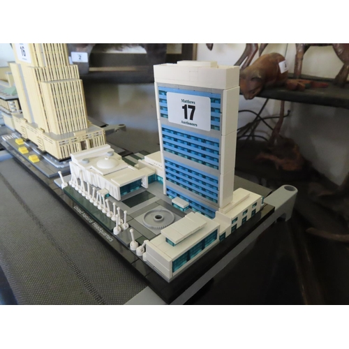 17 - Vintage Lego United Nations Headquarters Set Approximately 7 Inches Tall