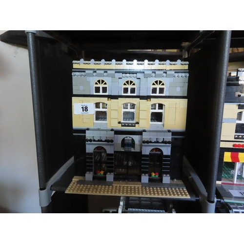 18 - Vintage Lego Townhouse Set Approximately 12.5 Inches Tall x 10 Inches Wide