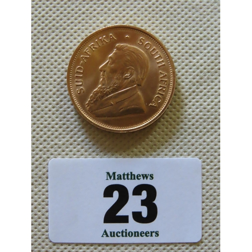 23 - 1974 South African Gold Krugerrand 1oz Coin