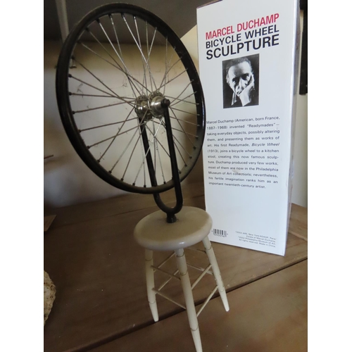 33 - Vintage Marcel Duchamp Bicycle Sculpture in Box Approximately 8 Inches Tall