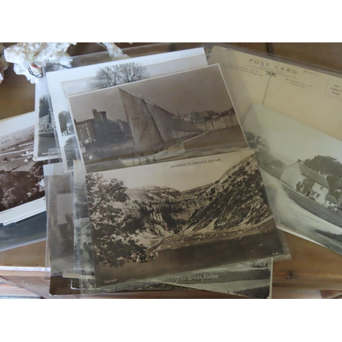 40 - Collection of Vintage Mostly Real Photo Postcards Depicting Yorkshire Area Some Used Others in Plast...