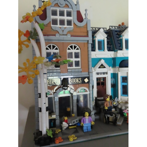 41 - Lego Set Birch Books Together with Town House Approximately 12 Inches Tall x 12 Inches Wide
