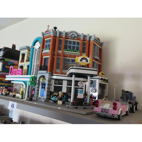 43 - Vintage Lego Diner and Garage Set Approximately 12 Tall x 18 Inches Wide