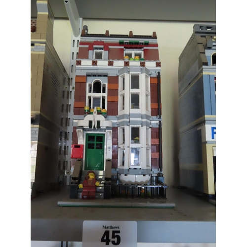 45 - Vintage Lego Town House Approximately 12 Inches Tall x 6 Inches Wide