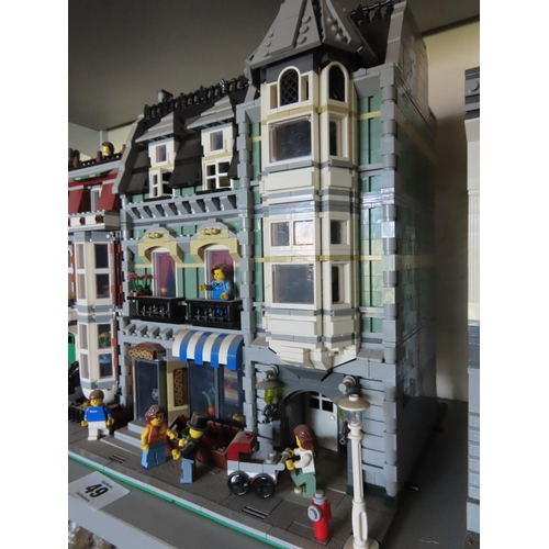 49 - Vintage Lego Street Scene Including Figures Approximately 14 Inches Tall x 16 Inches Wide