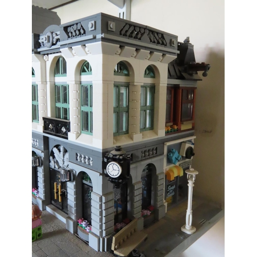 50 - Vintage Lego Street Corner Scene Including Figures Approximately 11 Inches Tall x 8 Inches Wide
