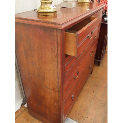 51 - Victorian Mahogany Chest of Drawers Two Short over Three Long Drawers 47 Inches Wide x 44 Inches Tal...