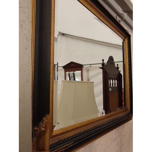 54 - Vintage Bevel Glass Mirror 36 Inches Wide x 26 Inches