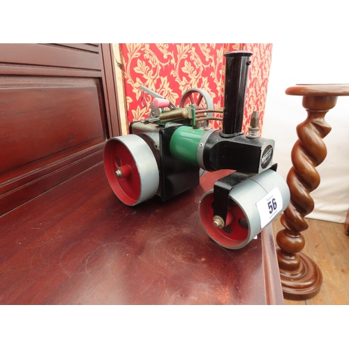 56 - Vintage Mamod Traction Engine Approximately 9 Inches Long