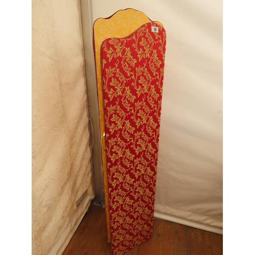 58 - Vintage Four Fold Room Divider with Floral Motif 70 Inches Tall x 60 Inches Extended