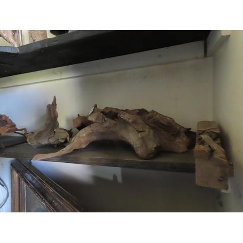 6 - Shelf of Driftwood Ornaments