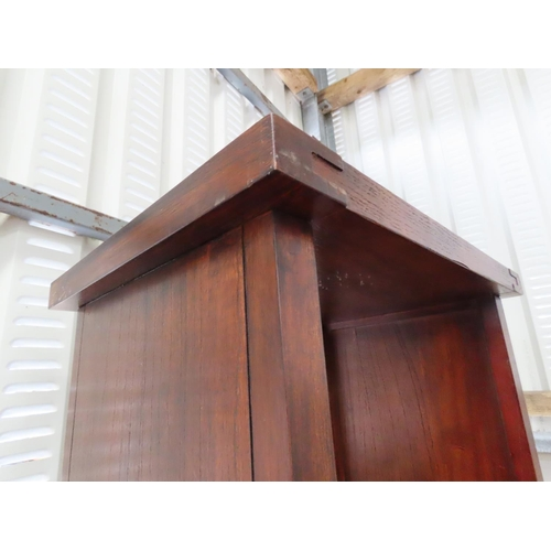 1 - Hardwood Bookcase Four Shelves Approximately 6ft 6 Inches High x 16 Inches Wide