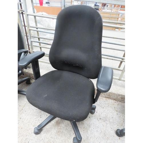 10 - Modern Upholstered Office Armchair Swivel Base