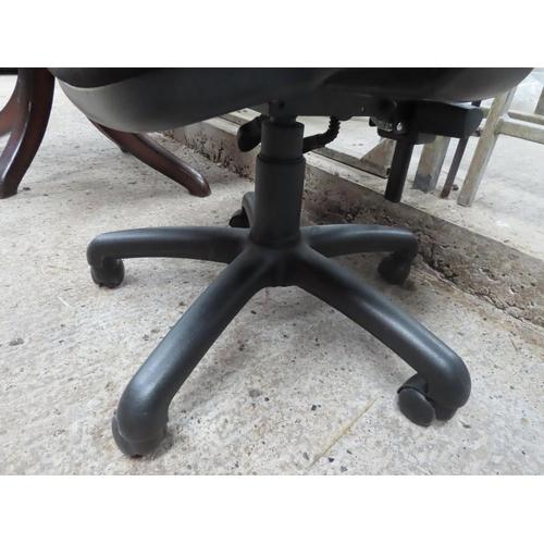 11 - Modern Upholstered Office Armchair Swivel Base