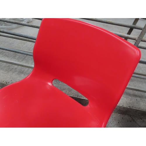 12 - Red Office Chair Swivel Base