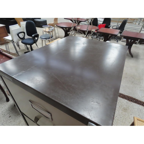 15 - Metal Four Drawer Filing Cabinet