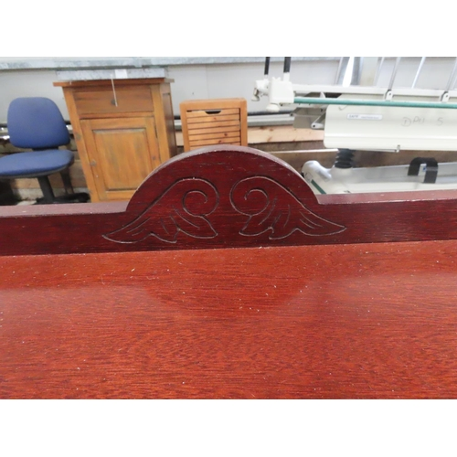 18 - Carved Mahogany Chippendale Side Table Single Drawer above Carved Supports Approximately 3ft Wide