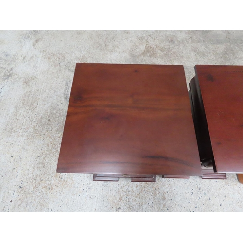 22 - Pair of Mahogany Side Lockers Twin Drawers